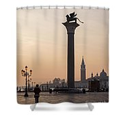Venice - Winged Lion Of St Mark Shower Curtain