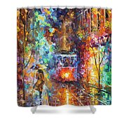 vening Trolley  Shower Curtain