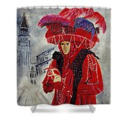 Venitian Mask 0130 Shower Curtain