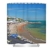 Ventnor Beach And Seafront Shower Curtain