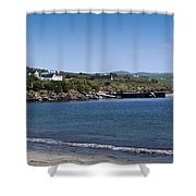 Ventry Beach And Harbor Ireland Shower Curtain