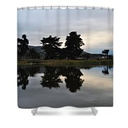 Ventura California Coast Estuary Shower Curtain