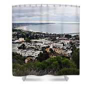 Ventura Coast Skyline Shower Curtain
