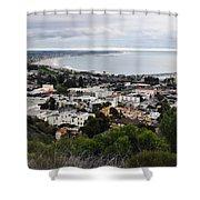 Ventura Coast Skyline Shower Curtain