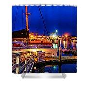 Ventura Harbor At Night Shower Curtain