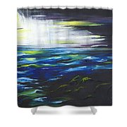 Ventura Seascape At Night Shower Curtain