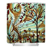Venturing Out By Madart Shower Curtain