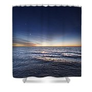 Venus And Jupiter In Conjunction Shower Curtain