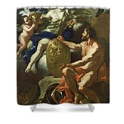 Venus At The Forge Of Vulcan Shower Curtain