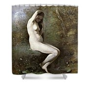 Venus Bathing Shower Curtain