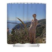 Venus In Eze's Garden Shower Curtain