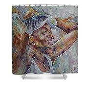 Venus Williams - Portrait 1 Shower Curtain