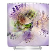 Venusian Microcosm Shower Curtain