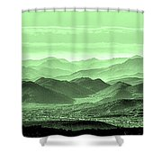 Verdant Hills Of The Tonto Shower Curtain