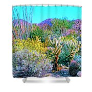 Verdant Spring Mohave Desert Shower Curtain