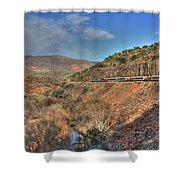 Verde Canyon Rr Shower Curtain