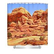 Vermilion Buttes Shower Curtain