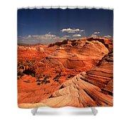 Vermilion Cliffs Rugged Landscape Shower Curtain