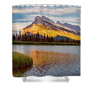Vermillion Lakes And Mt Rundle II Shower Curtain