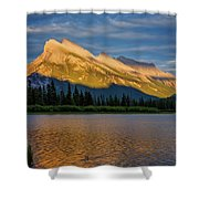 Vermillion Lakes And Mt Rundle Shower Curtain