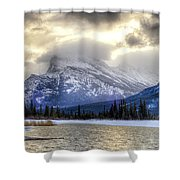 Vermillion Vista Shower Curtain