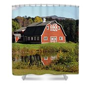 Vermont Barn Shower Curtain