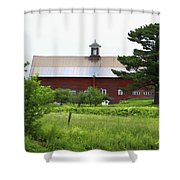 Vermont Barn With Tire Swing Shower Curtain