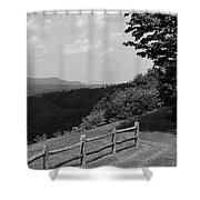 Vermont Countryside 2006 Bw Shower Curtain