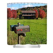 Vermont Farm In Autumn Shower Curtain