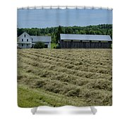 Vermont Farmhouse With Hay Shower Curtain