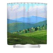 Vermont Pastures Shower Curtain