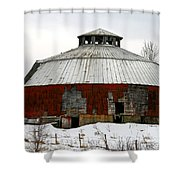 Vermont Round Barn Shower Curtain