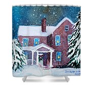 Vermont Studio Center In Winter Shower Curtain