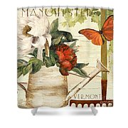 Vermont Summer Watering Can Shower Curtain