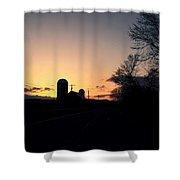 Vermont Sunset  Shower Curtain
