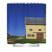 Vermont Yellow Barn 8x10 Ratio Shower Curtain