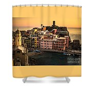 Vernazza At Sunset Shower Curtain