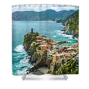 Vernazza, Cinque Terre, Liguria, Italy Shower Curtain