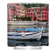 Vernazza Fishing Boats Shower Curtain