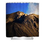 Vernazza On Fire Shower Curtain