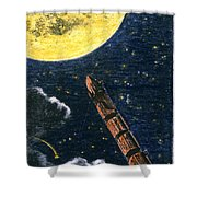 Verne: From Earth To Moon Shower Curtain