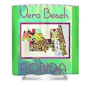 Vero Beach Map4 Shower Curtain