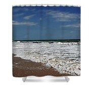 Vero Beach Surf Shower Curtain