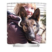 Vero Et Foxy Shower Curtain