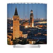 Verona At Night Shower Curtain