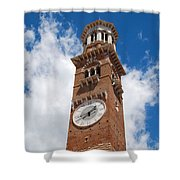 Verona Italy - Beautiful Torre Dei Lamberti Shower Curtain