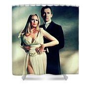 Veronica Carlson And Peter Cushing Shower Curtain