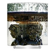 Versailles Fountain Shower Curtain