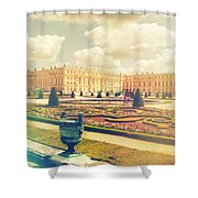Versailles Gardens And Palace In Shabby Chic Style Shower Curtain