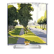 Versailles Travel Poster Shower Curtain